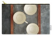 Challkboard Tea Cups Carry-all Pouch