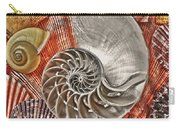Chambered Nautilus Shell Abstract Carry-all Pouch by Garry Gay