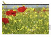 Chamomile And Poppy Flowers Meadow Carry-all Pouch