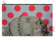 Chanel And Pink Polka Dots Carry-all Pouch