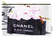 Chanel Bag With Peony  Carry-all Pouch
