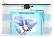 Chanel Blue Decor Carry-all Pouch
