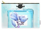 Chanel Blue Flower 3 Carry-all Pouch
