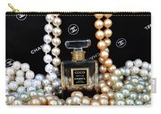 Chanel Coco With Pearls Carry-all Pouch