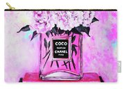 Chanel Perfume With Peony Carry-all Pouch