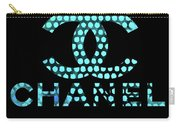 Chanel Light Blue Points Carry-all Pouch