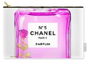 Chanel N 5 Perfume Print Carry-all Pouch