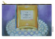 Chanel No 5 With Pearls Painting Carry-all Pouch