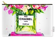 Chanel Nr 5 Flowers With  Perfume Carry-all Pouch