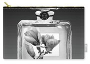 Chanel Perfume Black Flower Carry-all Pouch