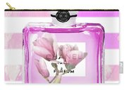 Chanel Pink Flower 5 Carry-all Pouch