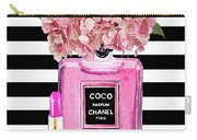 Chanel Poster Pink Perfume Hydrangea Print Carry-all Pouch