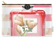 Chanel Red Flower Carry-all Pouch