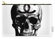 Chanel Skull Black Carry-all Pouch