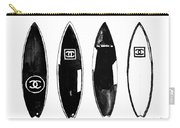 Chanel Surfboard  Black And White Carry-all Pouch