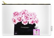 Chanel With Flowers Carry-all Pouch