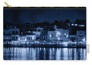 Chania By Night In Blue Carry-all Pouch
