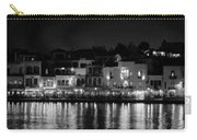 Chania By Night In Bw Carry-all Pouch