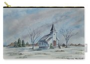 Chapel In Winter Carry-all Pouch