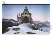 Chapel On A Mountain In Winter Carry-all Pouch