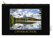 Character Inspirational Motivational Poster Art Carry-all Pouch by Christina Rollo