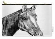 Charcoal Horse Carry-all Pouch