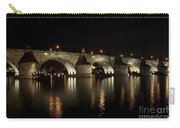 Charles Bridge At Night Carry-all Pouch