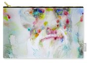Charles Darwin - Watercolor Portrait.5 Carry-all Pouch
