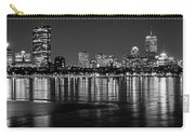 Charles River Boston Ma Prudential Lit Up Not Done New England Patriots Black And White Carry-all Pouch