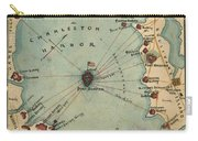 Charleston Harbor Vintage Map Carry-all Pouch