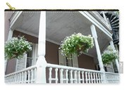 Charleston Historical District Front Porch Flowers - Charleston Homes Architecture Carry-all Pouch