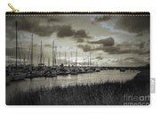 Charleston Marina Sunset In Sepia Carry-all Pouch