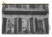 Charleston Style Home Black And White Carry-all Pouch