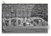 Charleston Waterfront Park Fountain Black And White Carry-all Pouch