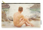 Charlie Seated On The Sand Carry-all Pouch