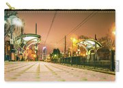 Charlotte City Skyline Night Scene With Light Rail System Lynx T Carry-all Pouch