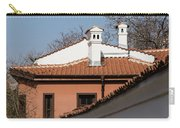 Charming Chimneys - White Stucco And Terracotta Juxtaposition Carry-all Pouch