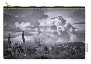 Chasing Clouds Again In Black And White  Carry-all Pouch