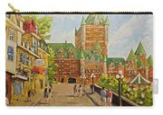Chateau Frontenac Promenade Quebec City By Prankearts Carry-all Pouch
