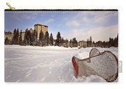 Chateau Lake Louise In Winter In Alberta Canada Carry-all Pouch