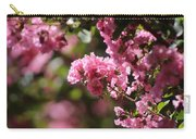 Chateau Rose Pink Flowering Crepe Myrtle  Carry-all Pouch