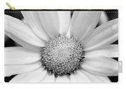 Cheery Daisy - Black And White Carry-all Pouch