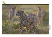 Cheetah Acinonyx Jubatus And Jackals Carry-all Pouch