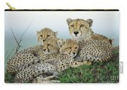 Cheetah And Her Cubs Carry-all Pouch