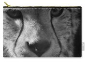 Cheetah Black And White Carry-all Pouch