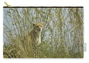 Cheetah Cub In Grass Carry-all Pouch