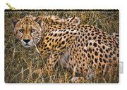 Cheetah In The Grass Carry-all Pouch