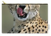 Cheetah Licking  Carry-all Pouch
