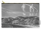 Chem Trails Over Valley Of Fire Black White  Carry-all Pouch