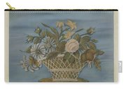 Chenille Embroidery Carry-all Pouch
